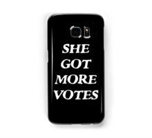She Got More Votes - Black Samsung Galaxy Case/Skin