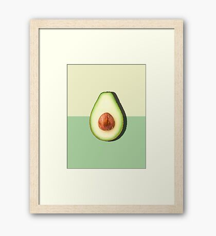 Avocado Half Slice Tropical Fruit Framed Print