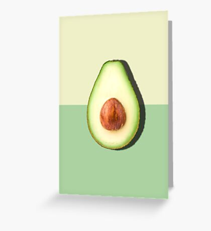 Avocado Half Slice Tropical Fruit Greeting Card