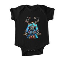 Asia Blue on Black TShirt by Karin Taylor One Piece - Short Sleeve