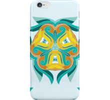 Psychedelic jungle kaleidoscope ornament 1 iPhone Case/Skin