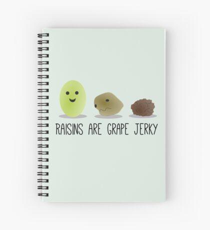 Raisins are grape jerky Spiral Notebook