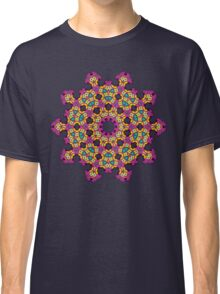 Psychedelic jungle kaleidoscope ornament 4 Classic T-Shirt