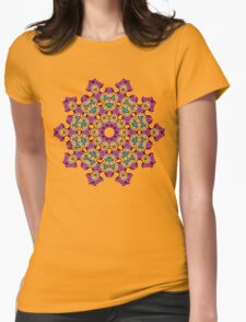 Psychedelic jungle kaleidoscope ornament 4 Womens Fitted T-Shirt