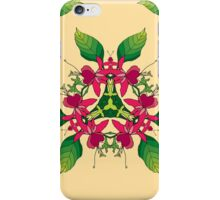 Psychedelic jungle kaleidoscope ornament 5 iPhone Case/Skin
