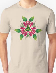Psychedelic jungle kaleidoscope ornament 5 Unisex T-Shirt