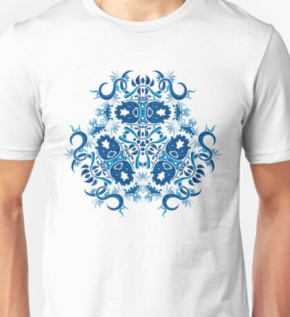 Psychedelic jungle kaleidoscope ornament 7 Unisex T-Shirt