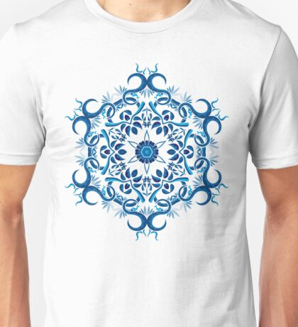 Psychedelic jungle kaleidoscope ornament 8 Unisex T-Shirt
