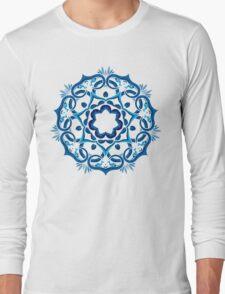 Psychedelic jungle kaleidoscope ornament 9 Long Sleeve T-Shirt
