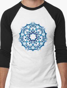 Psychedelic jungle kaleidoscope ornament 9 Men's Baseball ¾ T-Shirt