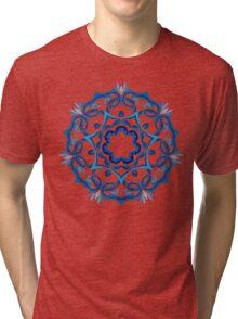 Psychedelic jungle kaleidoscope ornament 9 Tri-blend T-Shirt