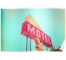 Vintage Americana Motel Sign Poster