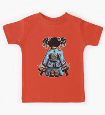 Asia Blue Doll (large design) Kids Tee