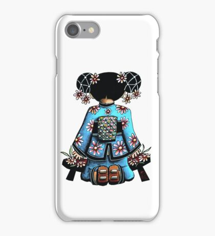 Asia Blue Doll (large design) iPhone Case/Skin