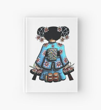 Asia Blue Doll (large design) Hardcover Journal