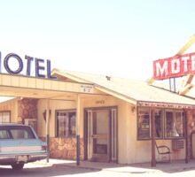 Deserted Desert Motel in California Sticker