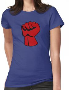 Red right hand Womens Fitted T-Shirt