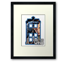 Matt Smith Tardis Cartoon Framed Print