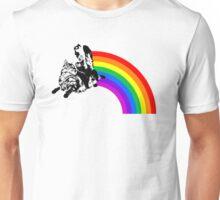 Cat Rider Rainbow Unisex T-Shirt