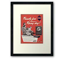 Neo Retro - 1960s PlayStation Ad Framed Print
