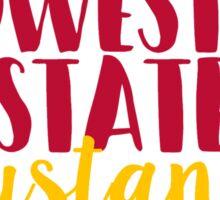 Midwestern State Mustangs Sticker