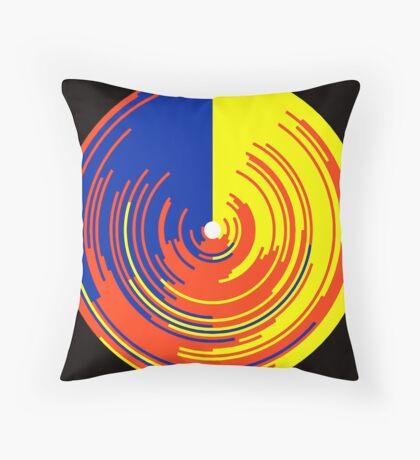 Big data doughnut Throw Pillow