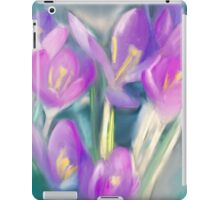 Pink Spring Crocus Flowers iPad Case/Skin