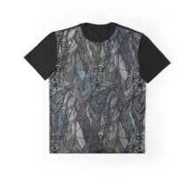 Dark Green Feathers Graphic T-Shirt