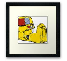 Arcade sit in driving game Framed Print