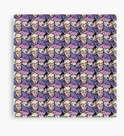 Hawkeye Clint Barton pattern  Canvas Print