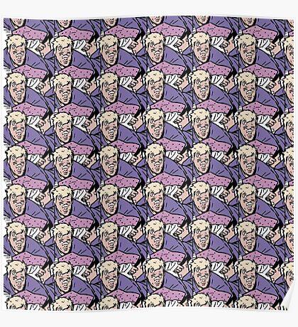 Hawkeye Clint Barton pattern  Poster