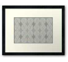 Grey Tribal Mosaic Framed Print