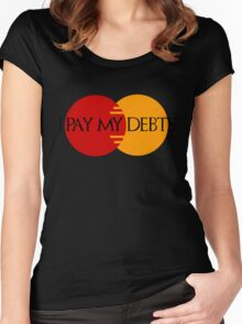 I Pay My Debts Women's Fitted Scoop T-Shirt