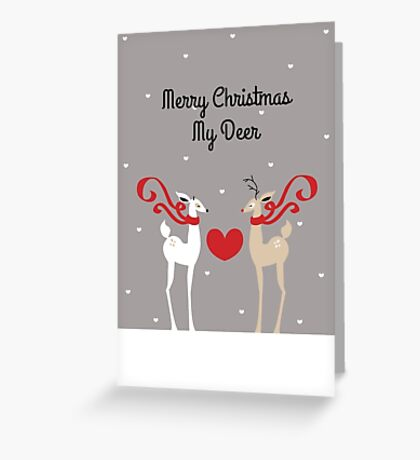 Merry Christmas My Deer Greeting Card