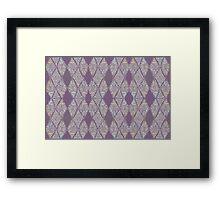 Light Purple Tribal Mosaic Framed Print