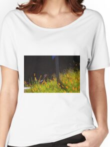 Single Wild Turkey Backlit in Some Grass Women's Relaxed Fit T-Shirt