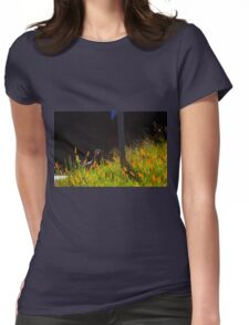 Single Wild Turkey Backlit in Some Grass Womens Fitted T-Shirt