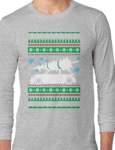 Christmas Car Ugly Sweater Mini Long Sleeve T-Shirt