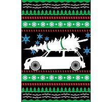 Christmas Car Ugly Sweater Mini Photographic Print