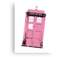 Pink Doctor Who? Canvas Print