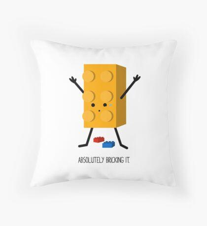 Bricking It. Throw Pillow