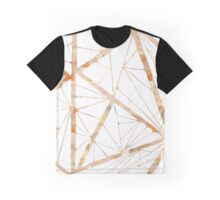 Tiled Triangles Creamy Watercolor Graphic T-Shirt