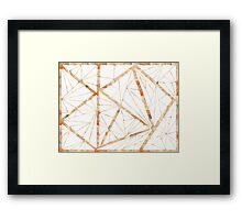 Tiled Triangles Creamy Watercolor Framed Print