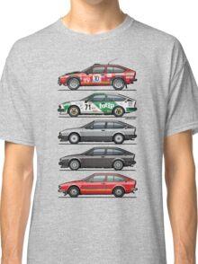 Stack of Alfa Romeo Alfetta GT and GTV6 Classic T-Shirt