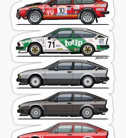 Stack of Alfa Romeo Alfetta GT and GTV6 Sticker
