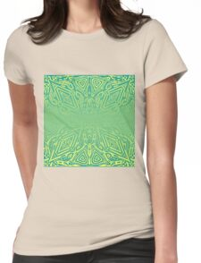 Green Vector Gradient  Womens Fitted T-Shirt