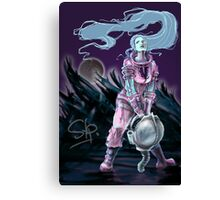 Cosmonaut Soldier On The Moon - Comics Character Canvas Print