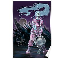 Cosmonaut Soldier On The Moon - Comics Character Poster