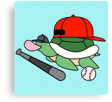 Baseball Turtle Canvas Print