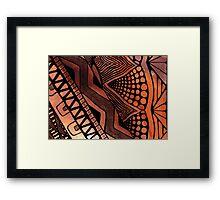 Tribal Fire Framed Print